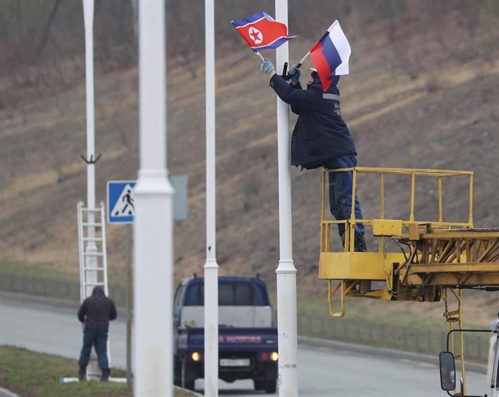 Kim Jong Un cruza la frontera de Rusia para su reunión con Putin