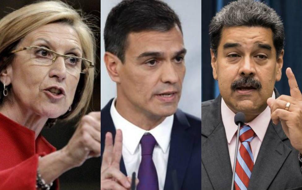 """Rosa Díez estalla contra Sánchez por su postura ante Venezuela: """"Falta de vergüenza"""""""
