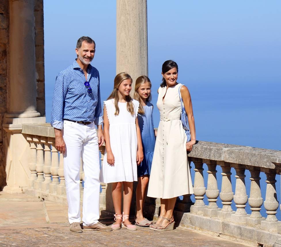 Los reyes concluyen sus vacaciones en Palma
