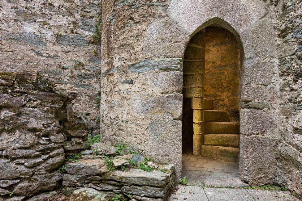 Escaleras de caracol en el Castillo de Moeche serán ahora abiertas al público - FOTO: César Galdo