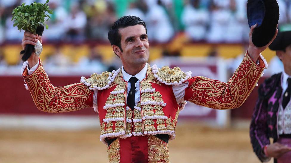 Emilio de Justo durante su triunfo en la recién finalizada Feria de la Albahaca