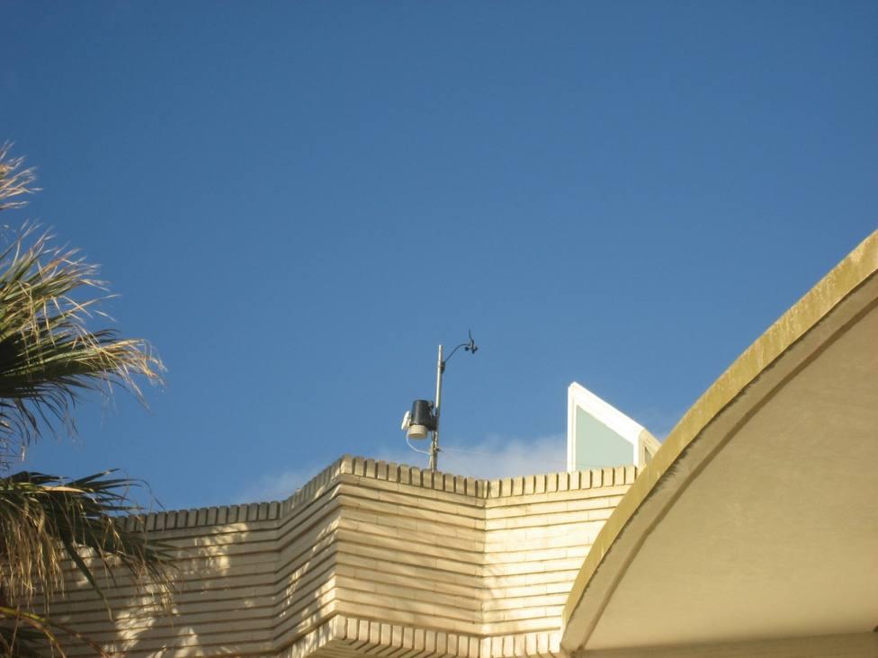 Estación meteorológica en el Planetario de Castellón que ha registrado 12,1ºC