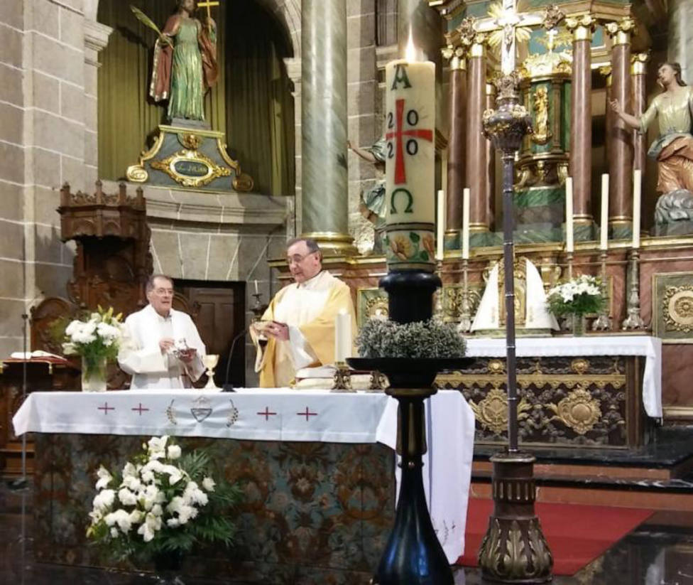 Eucaristía celebrada este Domingo de Pascua en la Concatedral de San Julián - FOTO: Carlos Miranda