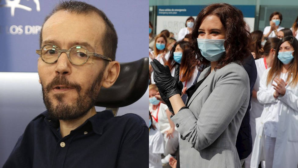 Pablo Echenique carga contra Isabel Díaz Ayuso