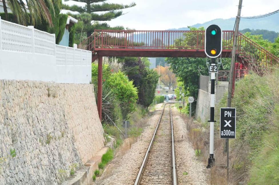 Línea 9 del TRAM dAlacant tramo entre Gata de Gorgos y Dénia.