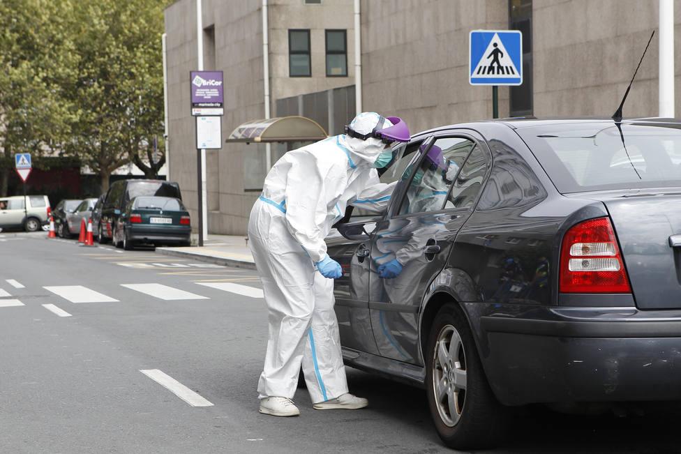 Punto de cribado del coronavirus en O Ventorrillo (A Coruña)