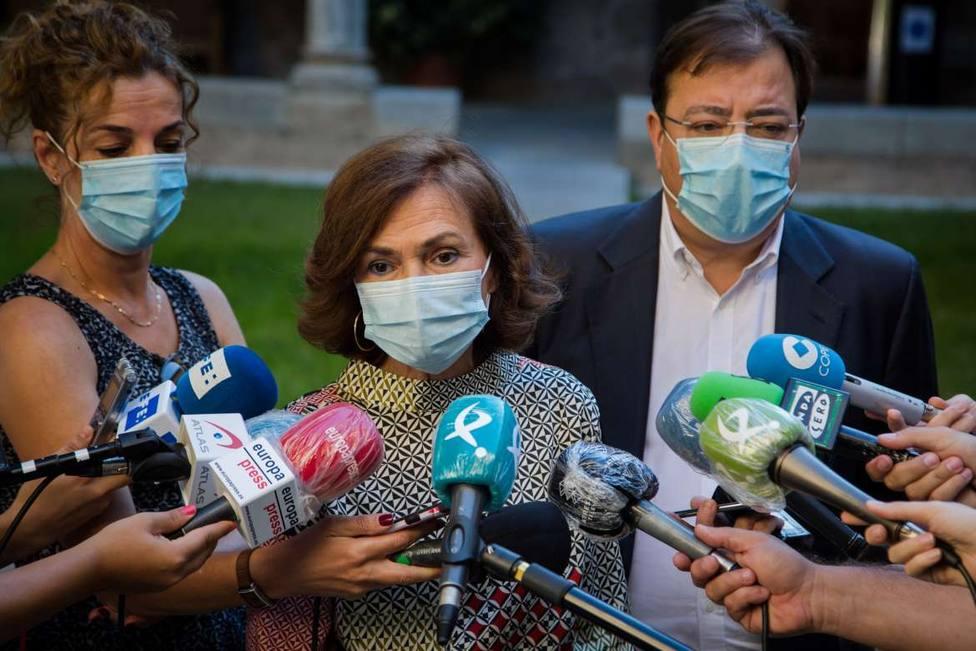 Extremadura presenta a Calvo sus proyectos para financiar con fondos europeos