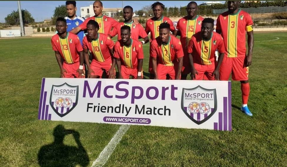 Amour Loussoukou jugó los 90 minutos en la derrota del Congo ante Gambia (0-1)