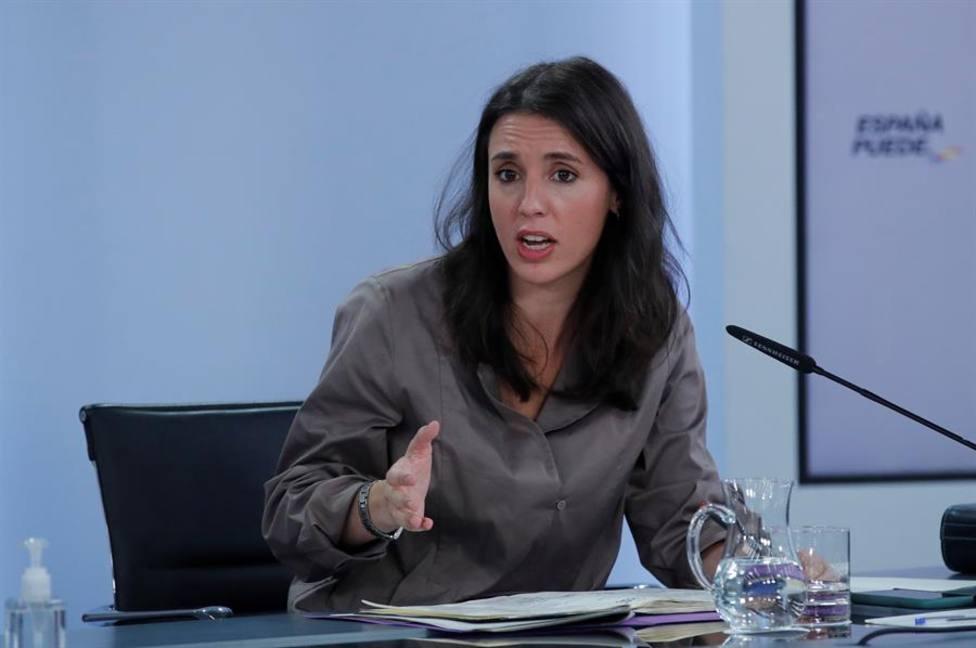 La ministra de Igualdad Irene Montero