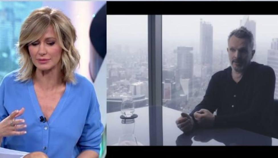 Susanna Griso tira de hemeroteca para recordar su mala experiencia con Miguel Bosé: Me enfadé muchísimo