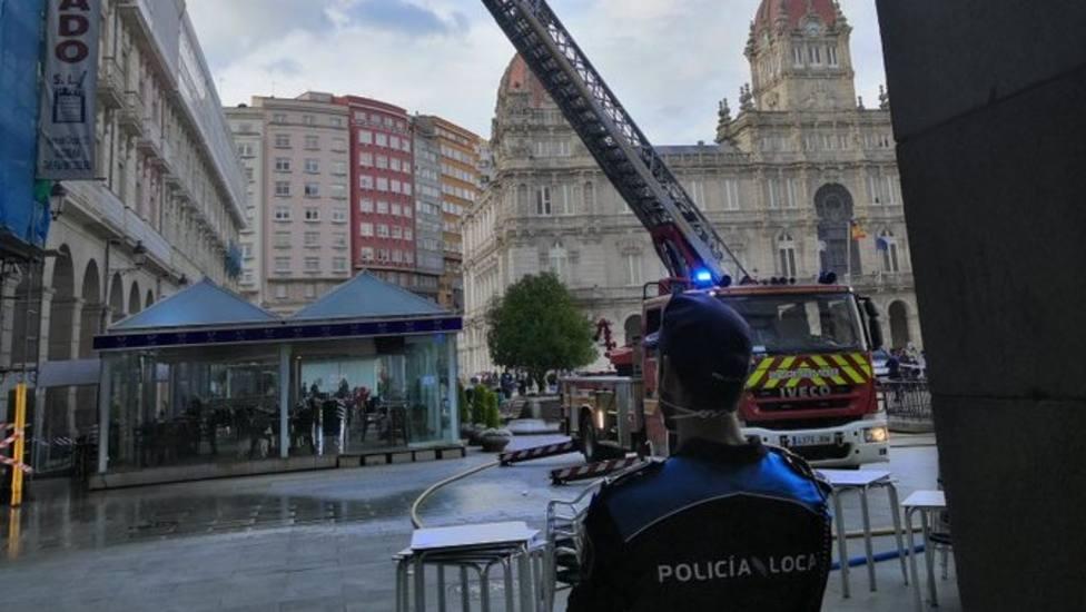Incendio en María Pita