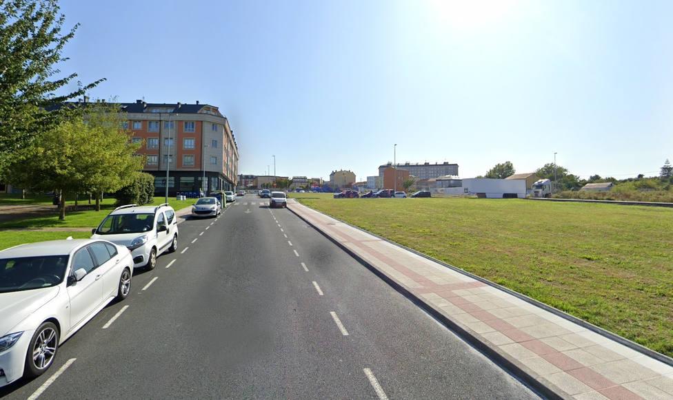 Calle en la que se produjo el atropello en el barrio de A Solaina