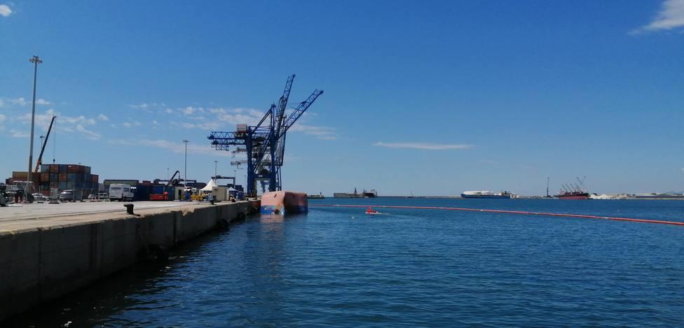 El buque Nazmiye Ana ya ha sido desplazado lateralmente para poder localizar a David