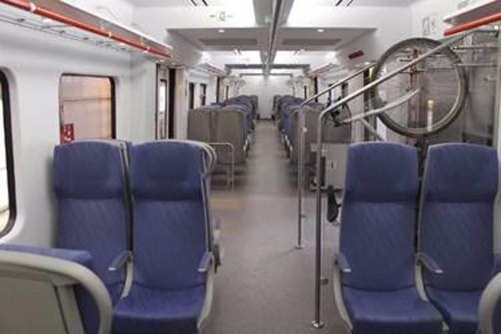 Interior de un tren de Rodalies de Catalunya
