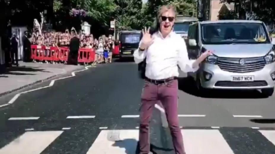 Paul McCartney en Abbey Road