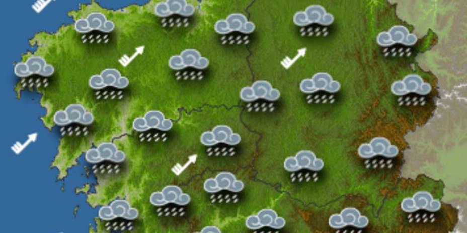La tarde viene con lluvias y viento en toda Galicia