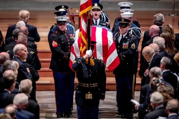 EEUU despide de George H.W. Bush con un emotivo funeral de Estado