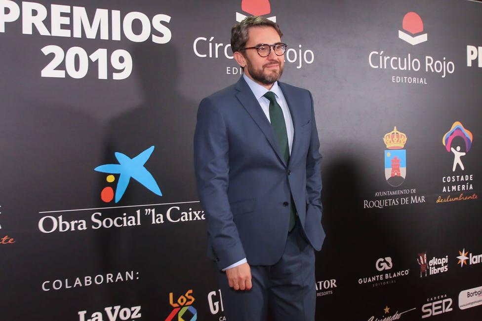 Maxim Huerta en la alfombra roja de la gala de los V Premios de la editorial Circulo Rojo