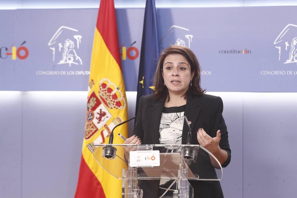 El PSOE acusa al PP y Cs de arrodillarse ante Vox y normalizar su ideología de odio y su discurso machista