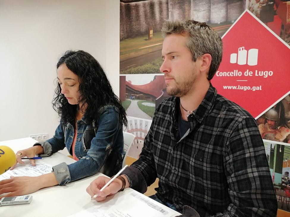 Los concejales lucenses Rubén Arroxo (BNG) y Ana González Abelleira (PSdeG-PSOE)