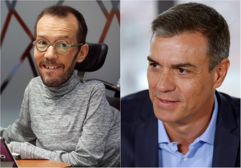 El dardo de Echenique a Sánchez por la imputación de Aguirre y Cifuentes que se le ha vuelto en contra
