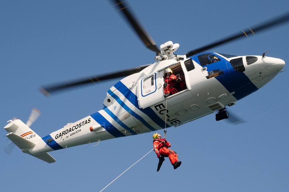 Foto de archivo del helicóptero Pesca II de la Xunta - FOTO: Gardacostas Galicia