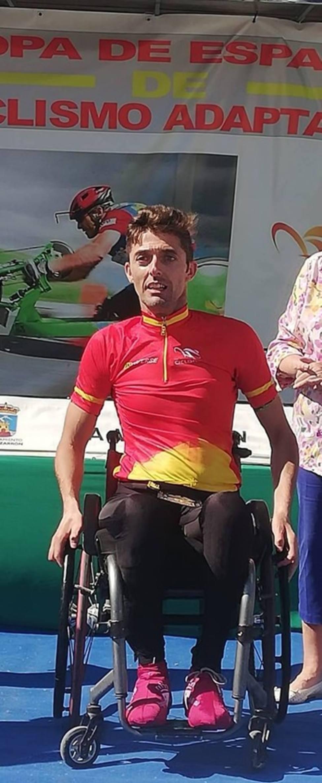 Luis Miguel Giner campeón de España de ciclismo Adaptado