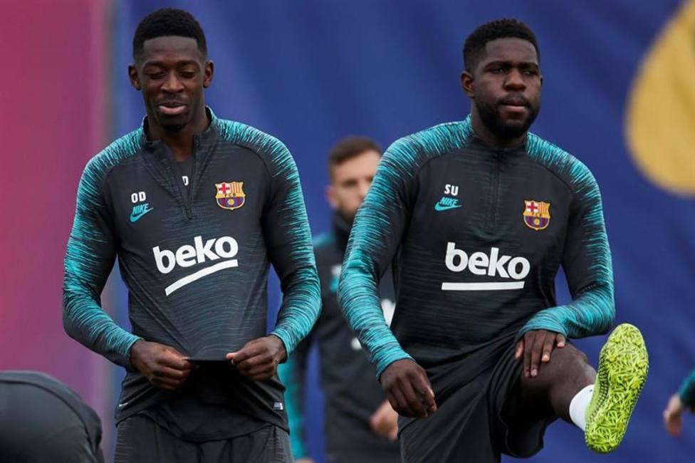 Umtiti sufre un golpe en el entrenamiento y no entra en la convocatoria del Barcelona