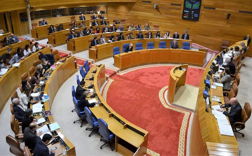 Imagen del pleno celebrado este jueves en el Parlamento de Galicia - FOTO: Parlamento de Galicia