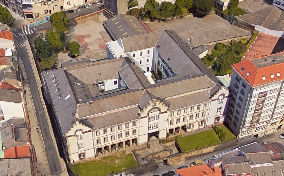 Vista aérea del Colegio Compañía de María de Ferrol