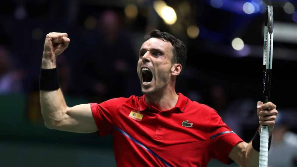 Roberto Bautista regresó con España para participar en el triunfo de la Copa Davis