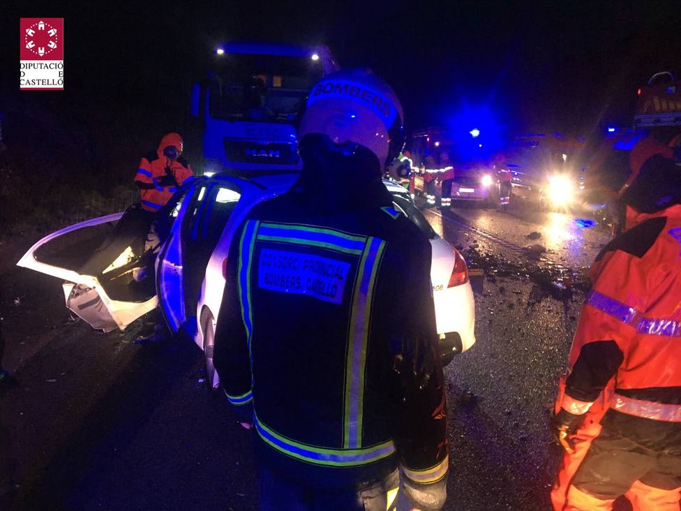 Accidente en la CV-13 en Vilanova dAlcolea