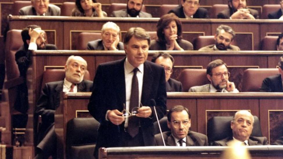 Una imagen de archivo de Felipe González en el Congreso