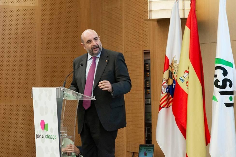 MIguel Borra, en el congreso porvincial de CSIF Zaragoza 2019