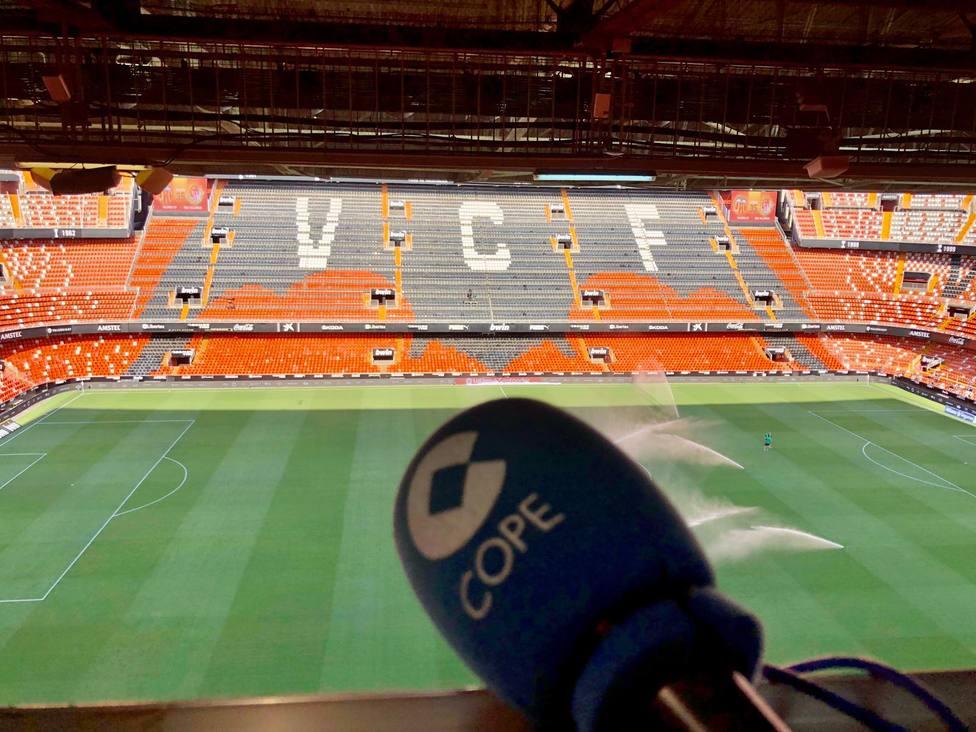 Estadio de Mestalla, campo del Valencia CF