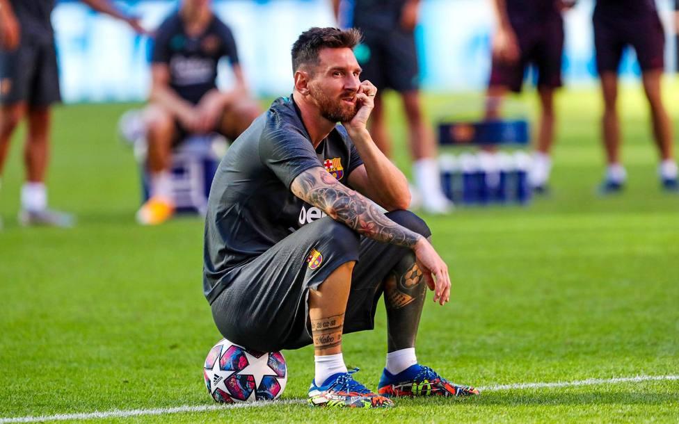 Leo Messi, antes del partido frente al Bayern