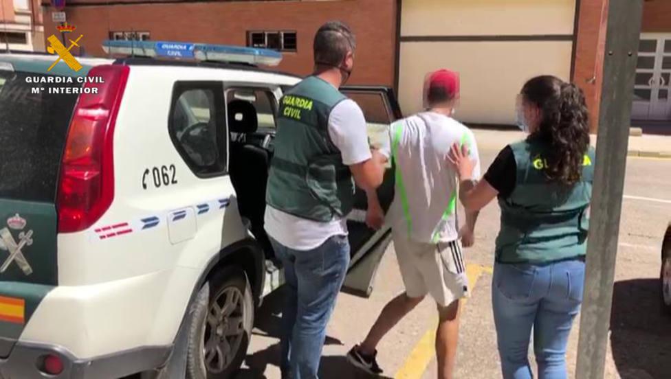 Traslado del detenido en Arnedo