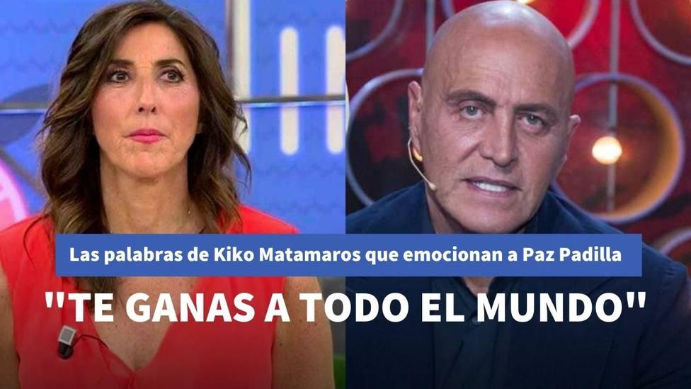 Paz Padilla se emociona después de este mensaje de Kiko Matamoros en 'Viva la vida'