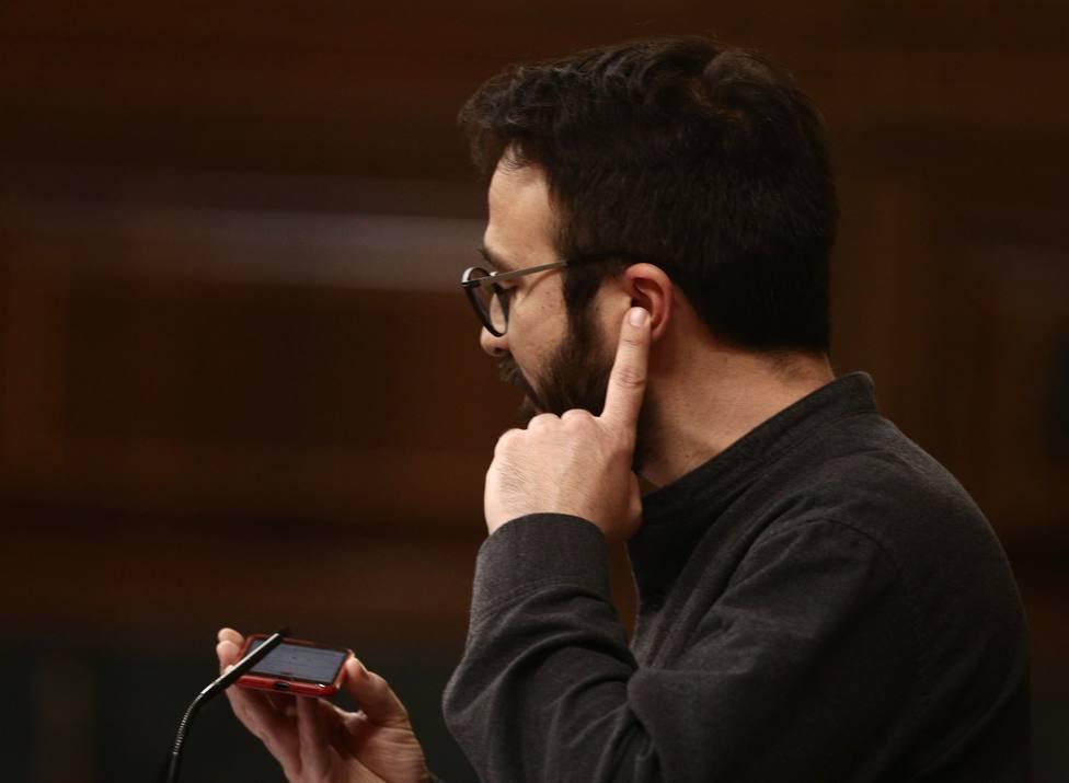 Un diputado de la CUP reproduce en el Congreso parte de una canción de Hasel por su encarcelamiento