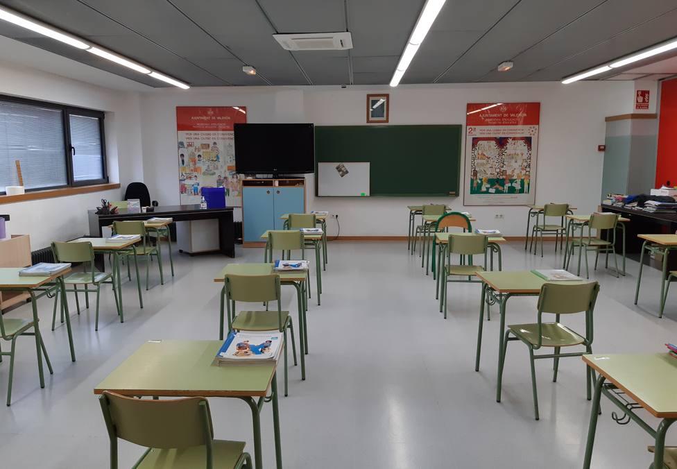 Aula de un colegio valenciano