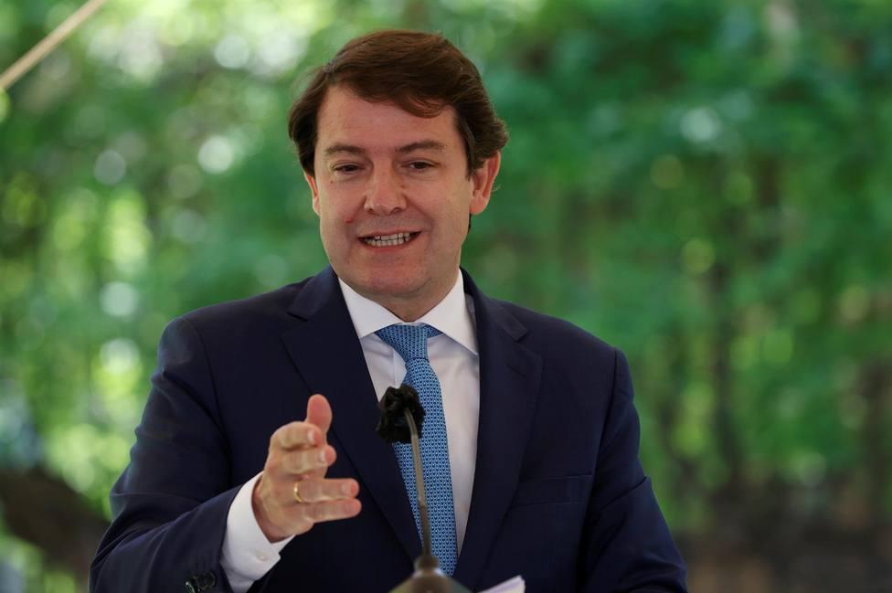 El presidente de la Junta de Castilla y León Alfonso Fernández Mañueco