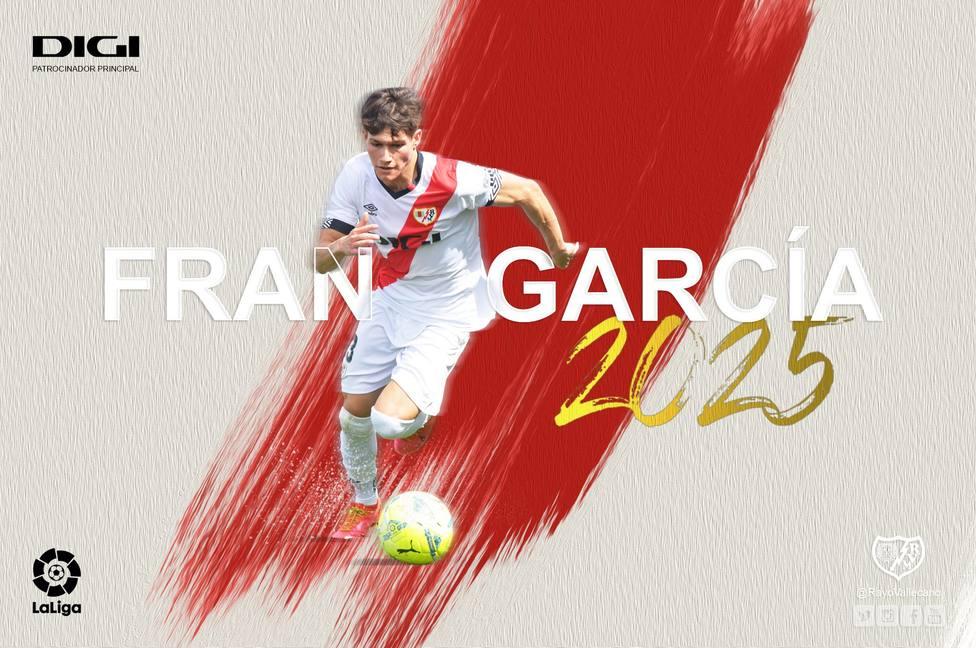Presentación de Fran García, nuevo jugador del Rayo Vallecano.