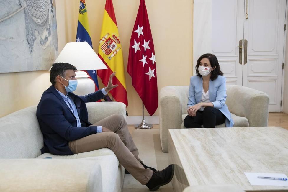 Ayuso se reúne con Leopoldo López para analizar el crecimiento del autoritarismo en Hispanoamérica