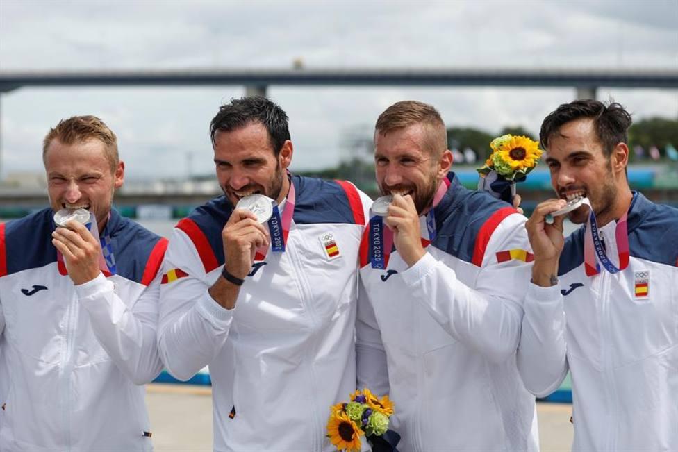 Craviotto, Cooper, Arévalo y Germade, medalla de plata en el K4 500