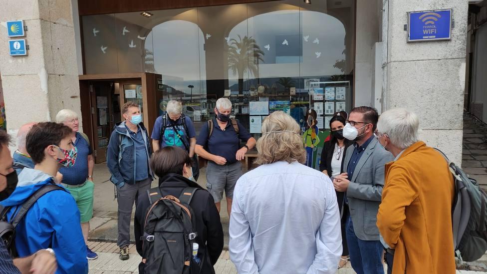 Integrantes del Fam Trip recibidos por el alcalde de Ferrol. FOTO: Concello Ferrol