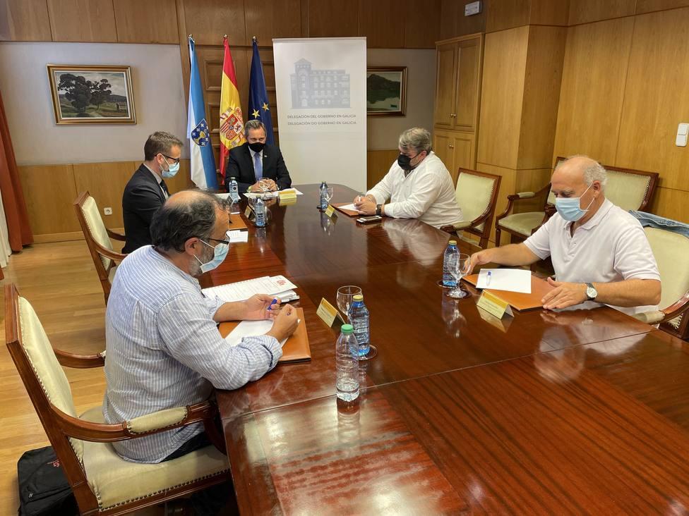 La reunión se celebró en la Delegación del Gobierno, en la ciudad de A Coruña - FOTO: Cedida
