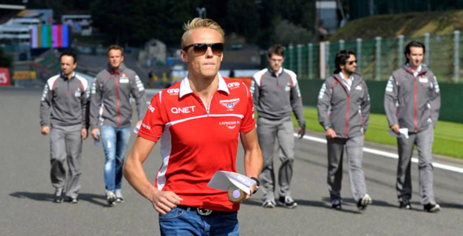 Chilton reconoce el circuito de Spa, sede del GP de Bélgica. Reuters.