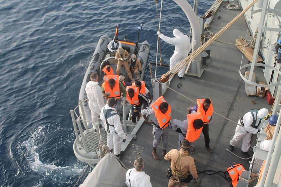 Imagen de un rescate de la Fragata Santa María.