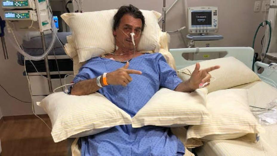 Jair Bolsonaro en el hospital