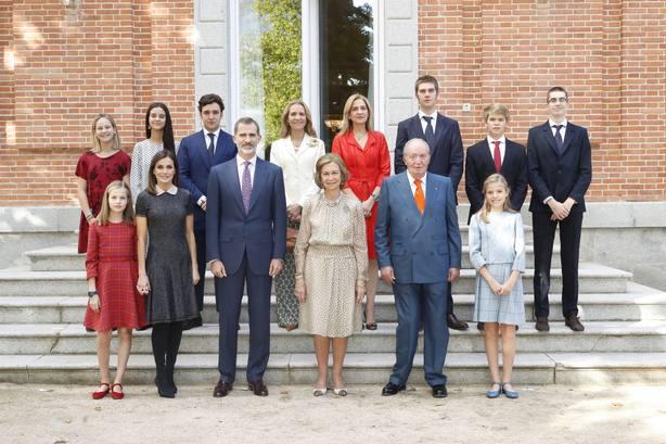 La Infanta Cristina y sus hijos, presentes en la celebración de los 80 años de la Reina Sofía